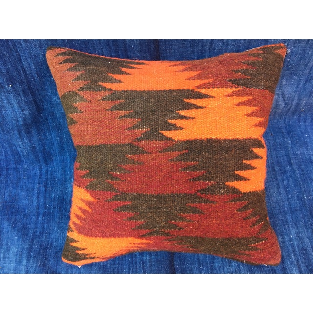 Boho Chic Pillow With Turkish Kilim Fragment - Image 2 of 5