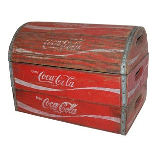 Rustic 20th Century Coca-Cola Trunk For Sale