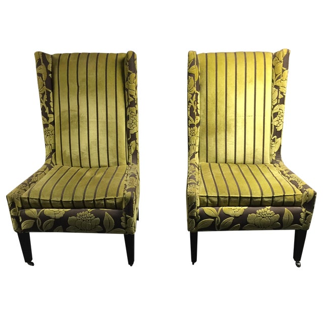 High-Back Romo Chairs - Pair - Image 1 of 3