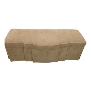 Beige Upholstered Storage Bench For Sale