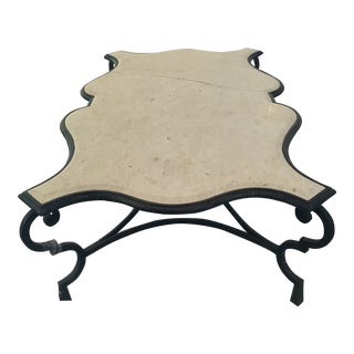 Late 20th Century Scalloped Coffee Table For Sale