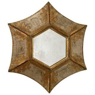 1980s Italian Florentine Giltwood Soleil Sunburst Mirror For Sale
