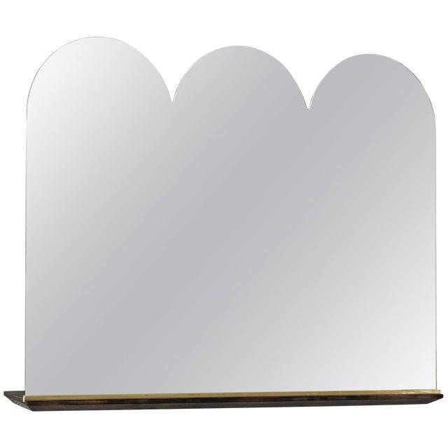 Phaedo Scalloped Propped Vanity Mirror For Sale
