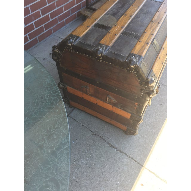 Antique Stagecoach Trunk Steamer For Sale In San Francisco - Image 6 of 13