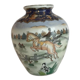 Hunt Scene Vase For Sale