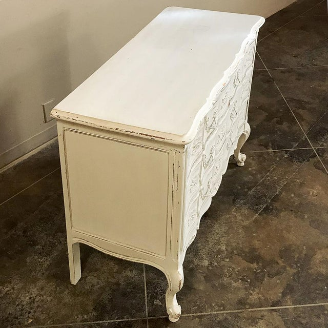 Mid 20th Century Antique Country French Provincial Painted Commode For Sale - Image 5 of 12