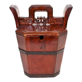 Mid 19th Century Antique Chinese Tea Basket For Sale