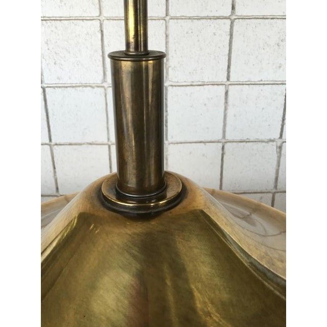 Vintage Brass Oversized Lamps - Pair For Sale - Image 4 of 6