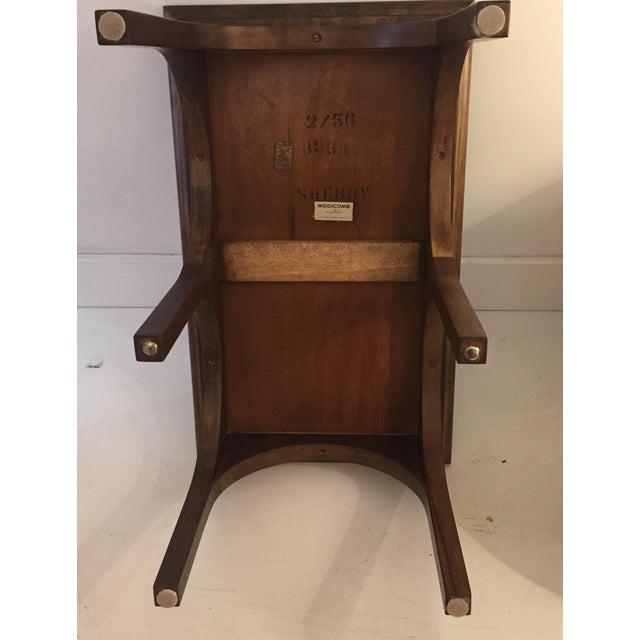 Robsjohn Gibbings Walnut Coliseum Side Table For Sale - Image 9 of 11