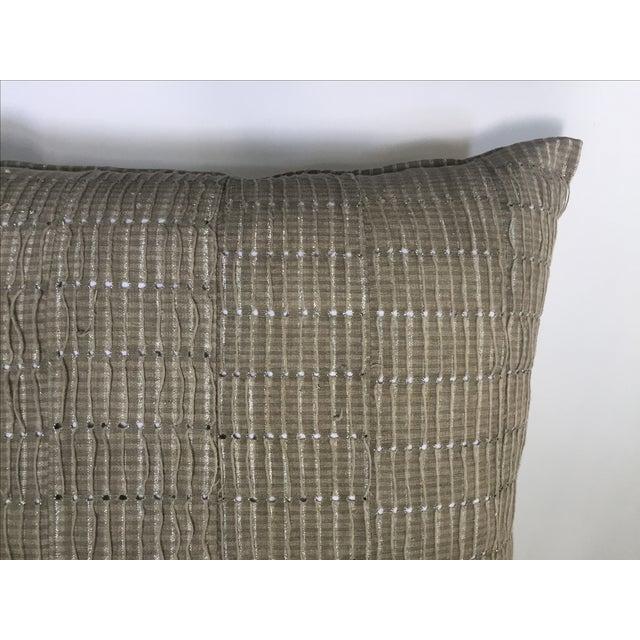 Vintage Aso Oke Metallic Thread Pillow - Image 3 of 4