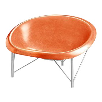 Heated Indoor/Outdoor Helios Chair in Silver & Orange For Sale