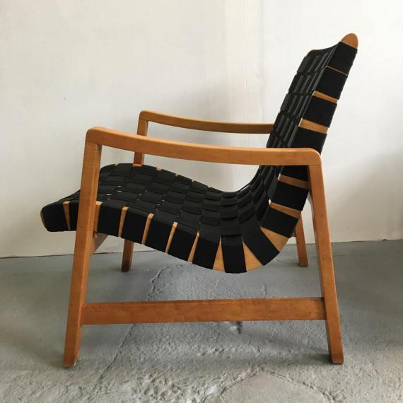 Jens Risom Webbed Lounge Chair - Image 4 of 6