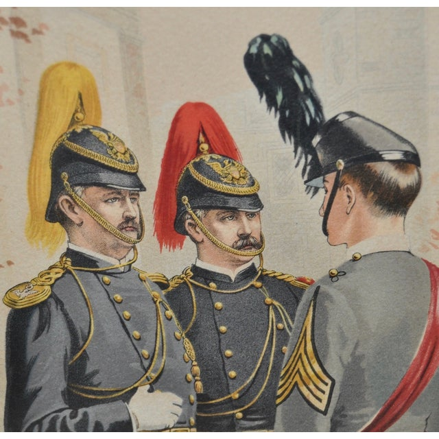 U.S. Military Academy Color Lithograph C.1888 - Image 3 of 10