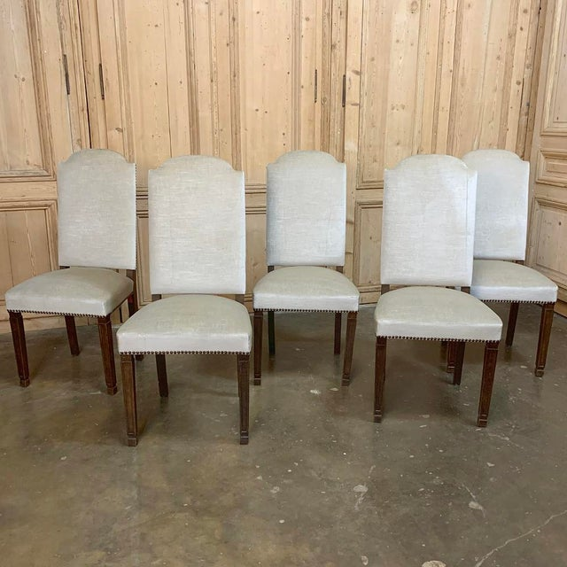 Wood Vintage Mid Century Neoclassical Dining Chairs- Set of 10 For Sale - Image 7 of 13