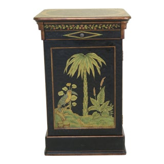 Boho Chic Hooker Island Paint Decorated 1 Door Cabinet For Sale