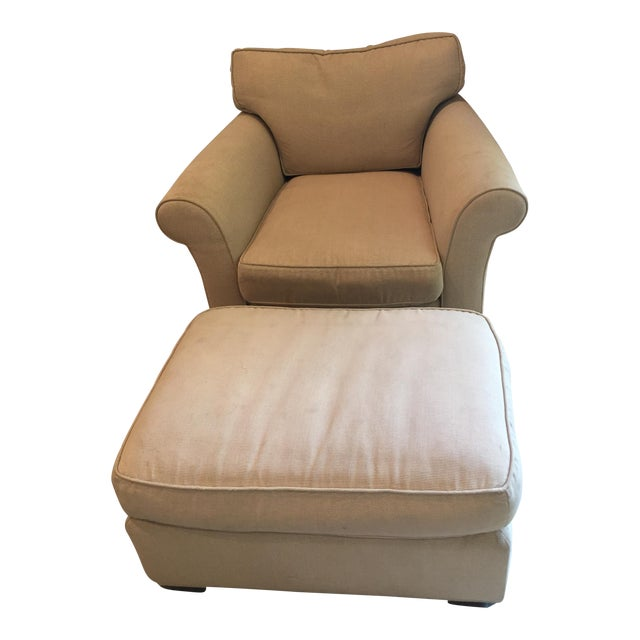 Mike Furniture Chair & Ottoman For Sale