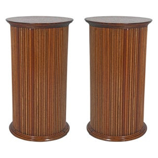 Vintage Neoclassical Reeded Pedestals - A Pair For Sale