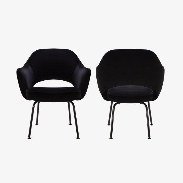 Saarinen Executive Arm Chairs, Black Edition - Set of 6 - Image 2 of 8