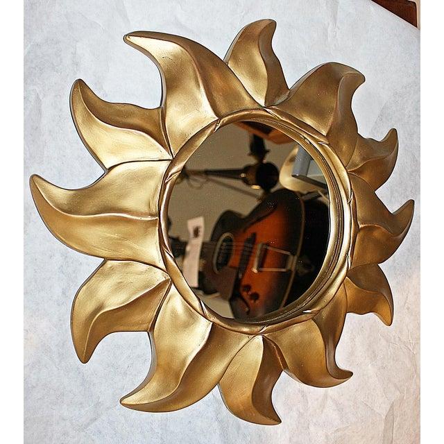 Gold Sunflower Framed Round Mirror - Image 3 of 5
