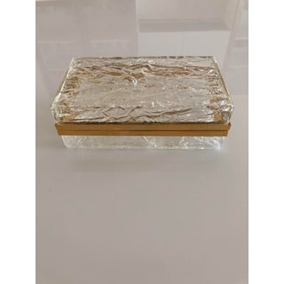 1970s Vintage Gabriela Crespi Style Lucite and Brass Box Preview