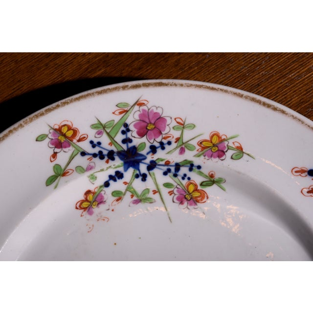 Ceramic 18th Century Staffordshire Soft Paste Floral Plates - Set of 12 For Sale - Image 7 of 13