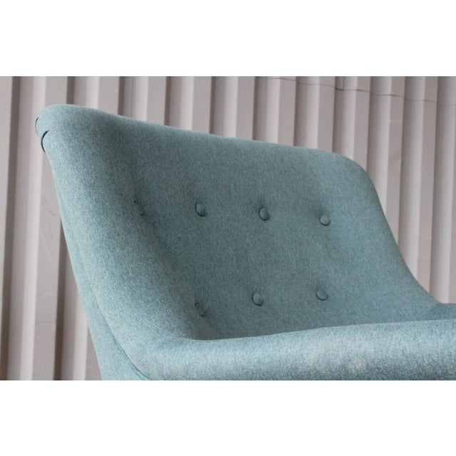 Blue Dark Teal Armchair by Ernest Race, England, 1940s For Sale - Image 8 of 12