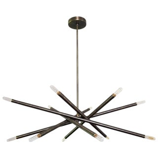 "Blueprint Lighting ""Nest"" Oil-Rubbed Bronze Finish Chandelier For Sale"