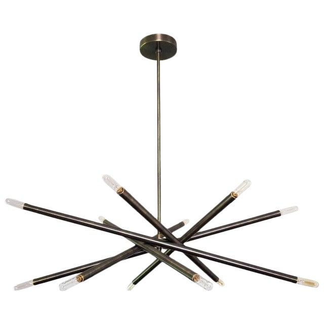 """Blueprint Lighting """"Nest"""" Oil-Rubbed Bronze Finish Chandelier For Sale"""