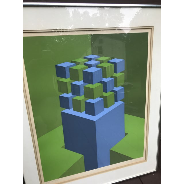 """Marko Spalatin 1971 Serigraph """"Cubes Devoted"""" Signed and Numbered - Image 4 of 9"""
