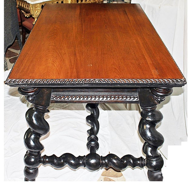 Mediterranean American Barley Twist Writing Desk For Sale - Image 3 of 11