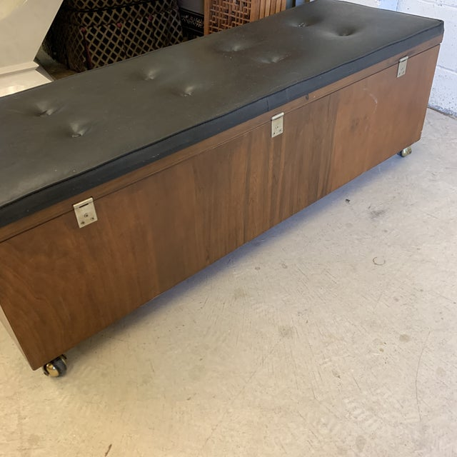 Black Mid Century Modern Lane Cedar Chest Bench For Sale - Image 8 of 12