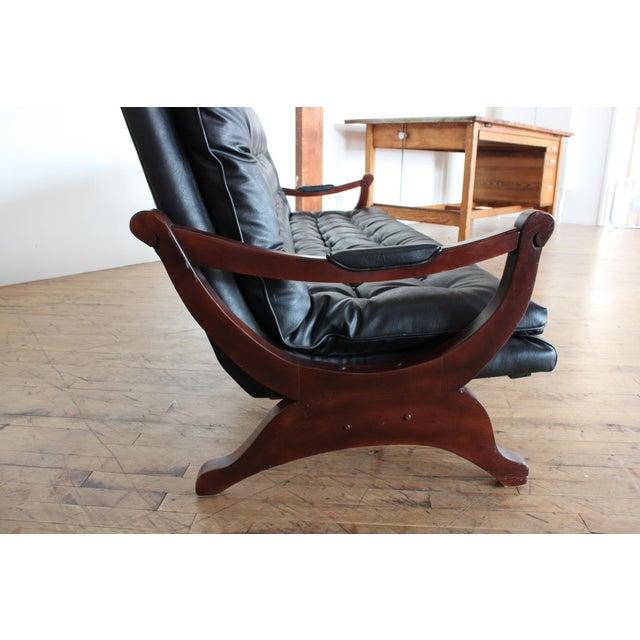 Vintage Black Tufted Sofa- Low Profile - Image 4 of 8