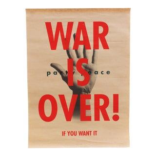 Rex Ray Antiwar Screenprint Poster War Is Over Variation 2 For Sale