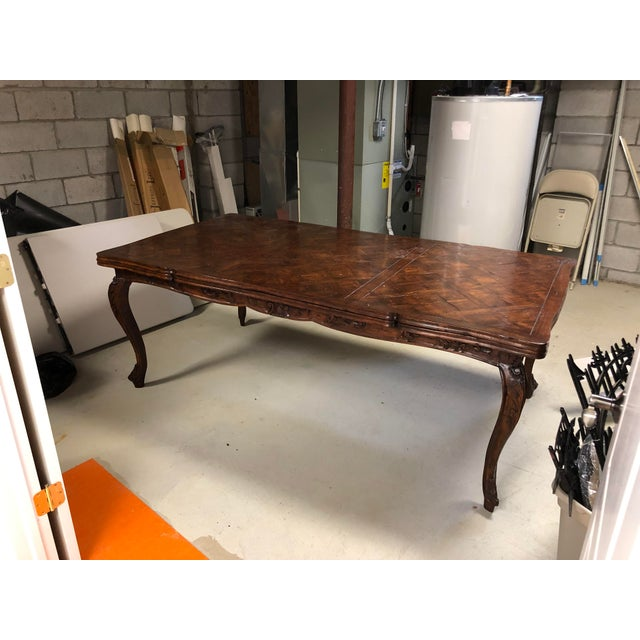 French Provencale Style Parquet Dining Table For Sale - Image 10 of 12