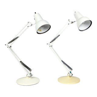 Pair of Articulating Luxo Desk Lamps For Sale