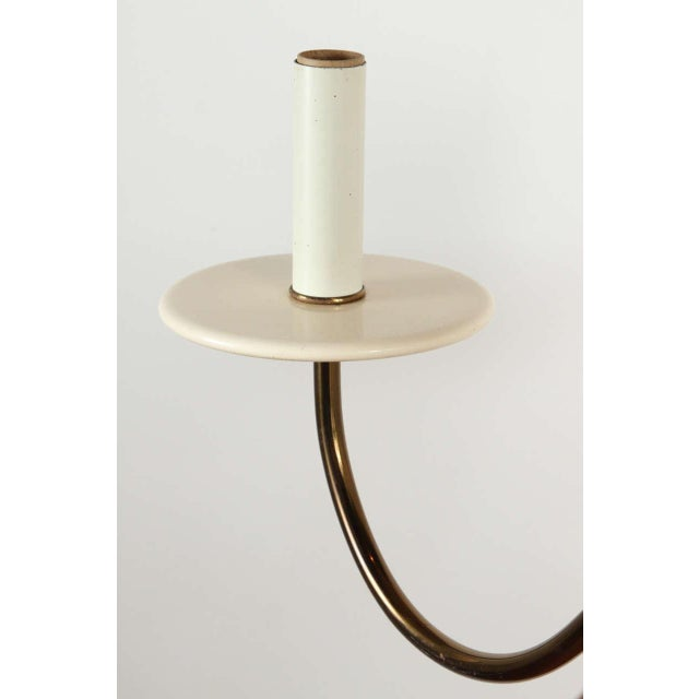 1960s 1960s Wood and Brass Chandelier For Sale - Image 5 of 9