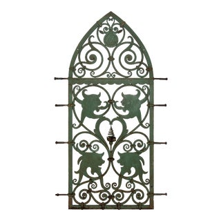 C. 1870 Gothic Revival Wrought-Iron Window Guard For Sale