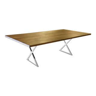 X Base Dining Table 1 For Sale