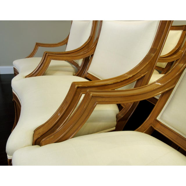 Wood J. Robert Scott Tuscan Italian Arm Chairs For Sale - Image 7 of 8