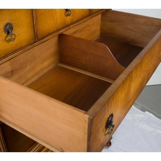 Brown William and Mary Style Chest of Drawers on Stand Dresser For Sale - Image 8 of 12