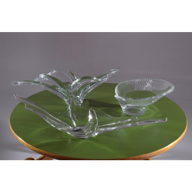 Mid 20th Century 20th Century French Crystal Centerpiece Bowl, 1960-1970s For Sale - Image 5 of 7