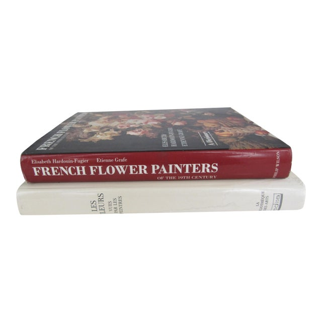French Flower Painting Books - A Pair For Sale
