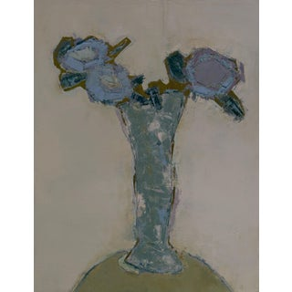 "Bill Tansey ""Vase""Abstract Floral Oil on Canvas For Sale"