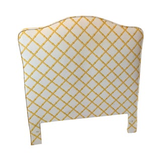 Twin Vintage Headboards, Bamboo Lattice - Pair