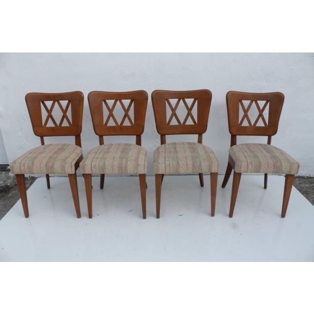 Mid-Century Modern Heywood-Wakefield Dog Bone Chairs - Set of 6 For Sale - Image 3 of 11