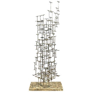 Mario Jason Towering Brutalist Abstract Sculpture, Signed and Dated For Sale