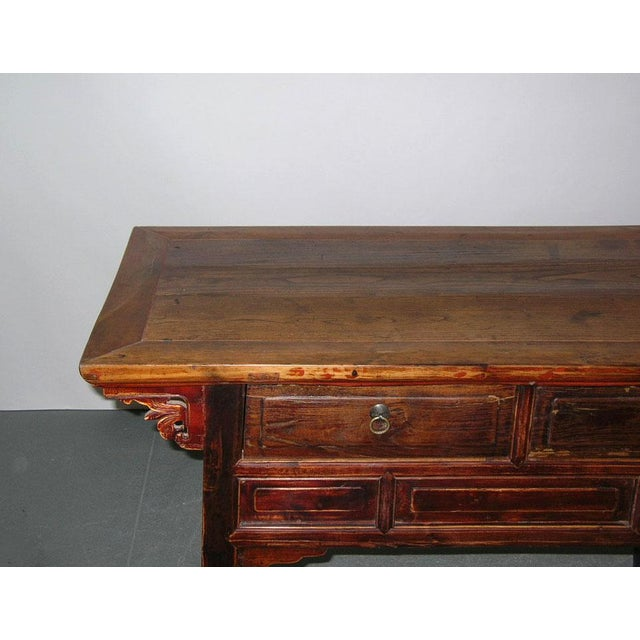 Asian Antique Qing Dynasty Chinese Desk For Sale - Image 3 of 5