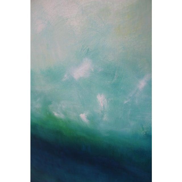 Modern Blue Horizon Landscape Oil Painting - Image 2 of 3