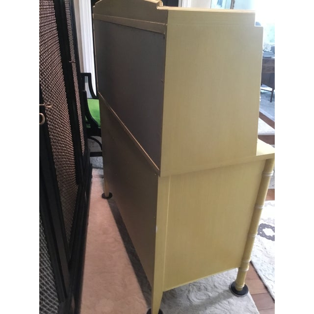 Thomasville Faux Bamboo Drop Down Secretary Desk For Sale In Cleveland - Image 6 of 7