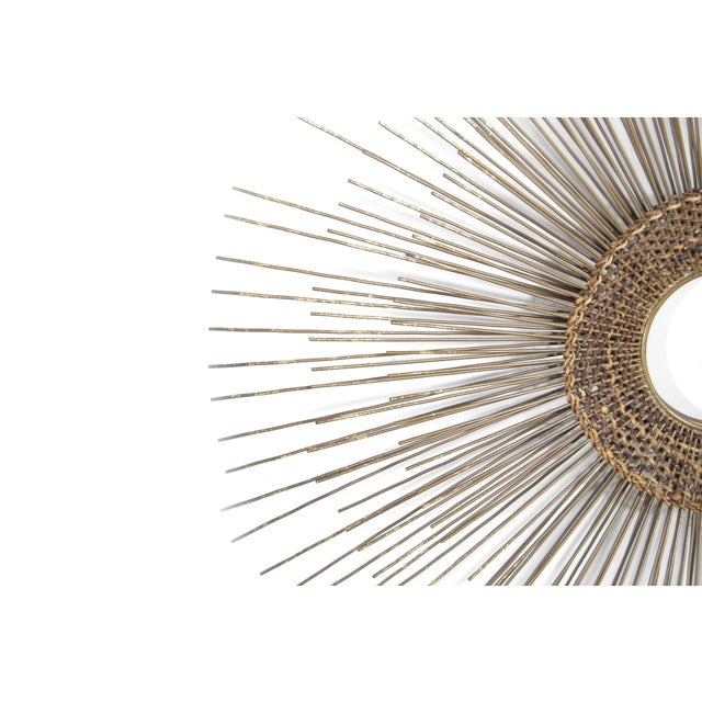 1950s Woven Sunburst Wall Sculpture For Sale - Image 4 of 9